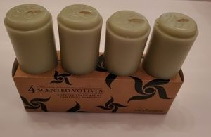 Set of 4 scented votive candles